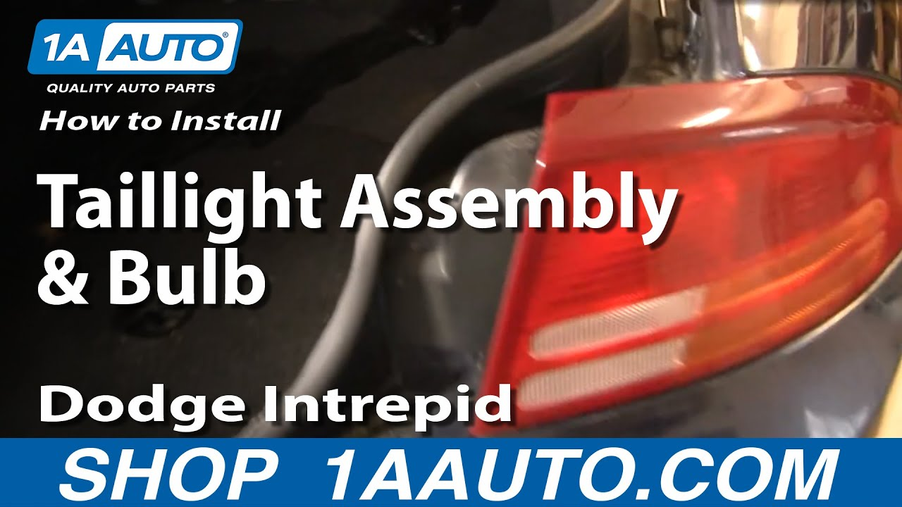 how to replace taillight assembly and bulb 98 04 dodge intrepid 1a auto parts [ 1280 x 720 Pixel ]