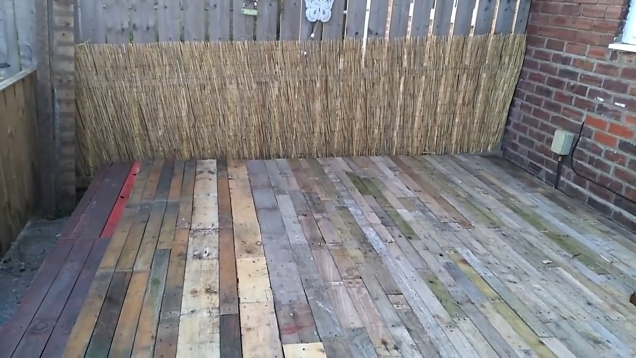 How To Make A Deck From Pallets
