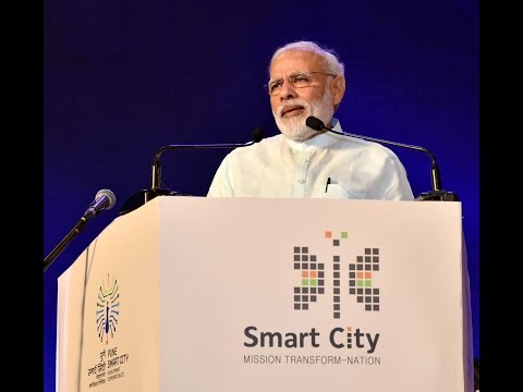 PM Modi's speech at the launch of Smart City Projects In Pune, Maharashtra   YouTube 360p