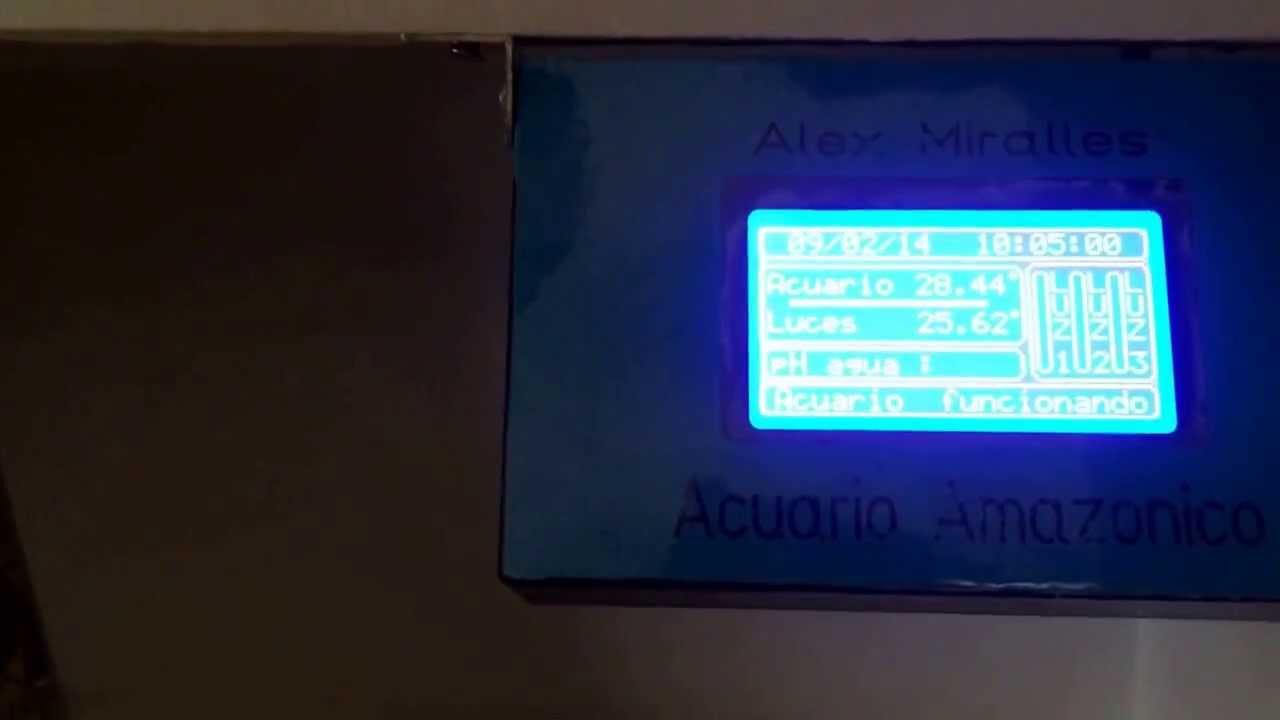 Arduino acuario youtube