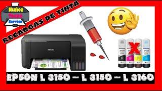 Como  recargar  Impresora Epson L3110 L 3150 L 3160 Con Tinta Fotograficas o Sublimacion