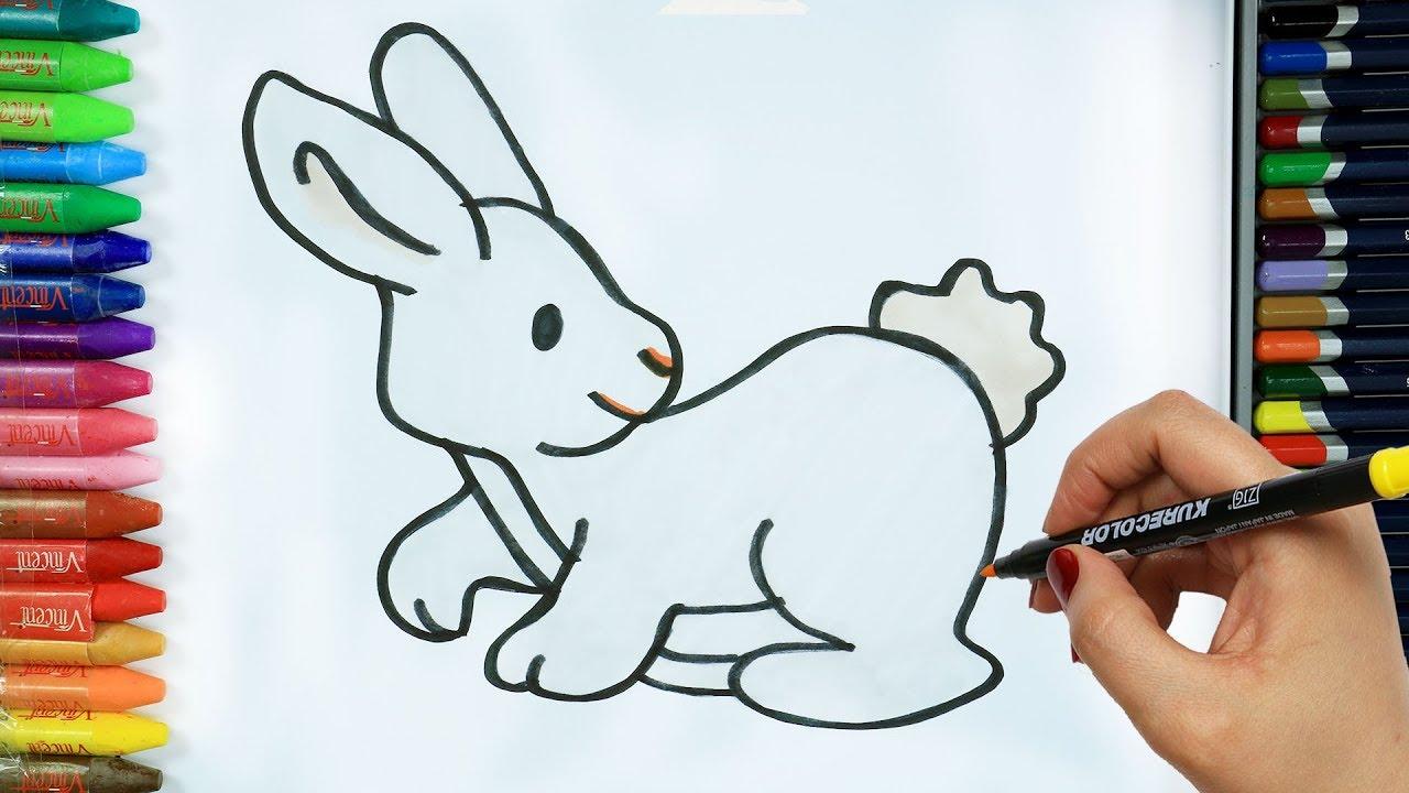 Tavşan Nasıl çizilir Boya Boya çizelim Boyayalım çocuklar