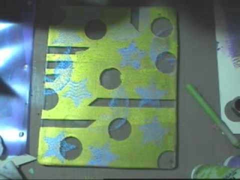 Gelli transfer tape on clear label full sheet