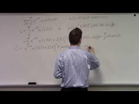Infinite horizon continuous time optimizationn