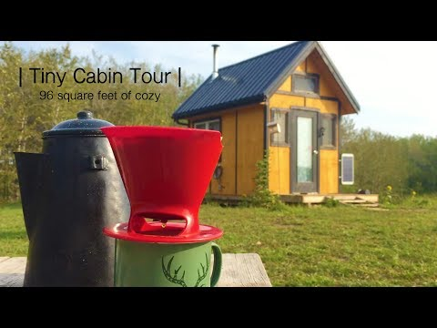 Off Grid Tiny Cabin Tour | 96 square feet