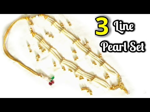 3 Line Pearl Set With Pendant   Hand craft jewelry factory