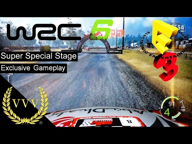 WRC 6 Gameplay Super Special Stage E3 2016