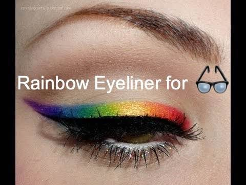 Pride Rainbow Makeup for Glasses & Green Eyes| Vote4Summer