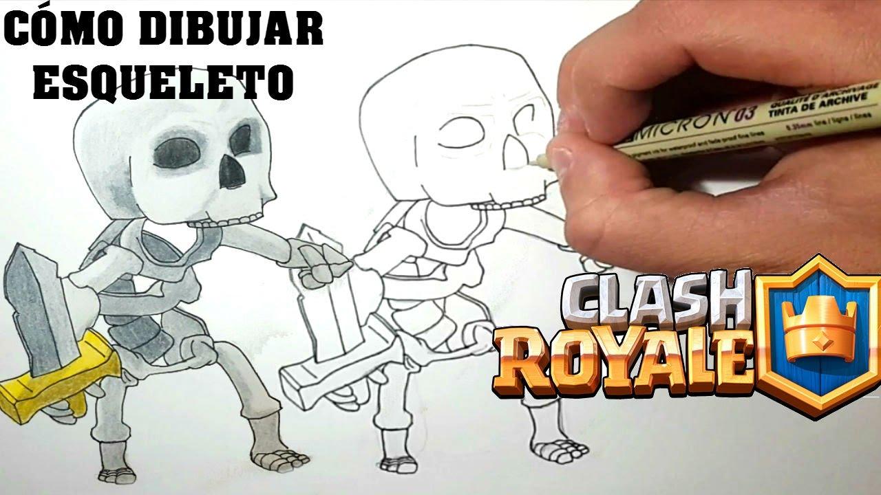 Clash Royale Personajes Para Colorear: Cómo Dibujar ESQUELETO De CLASH ROYALE-MagicBocetos