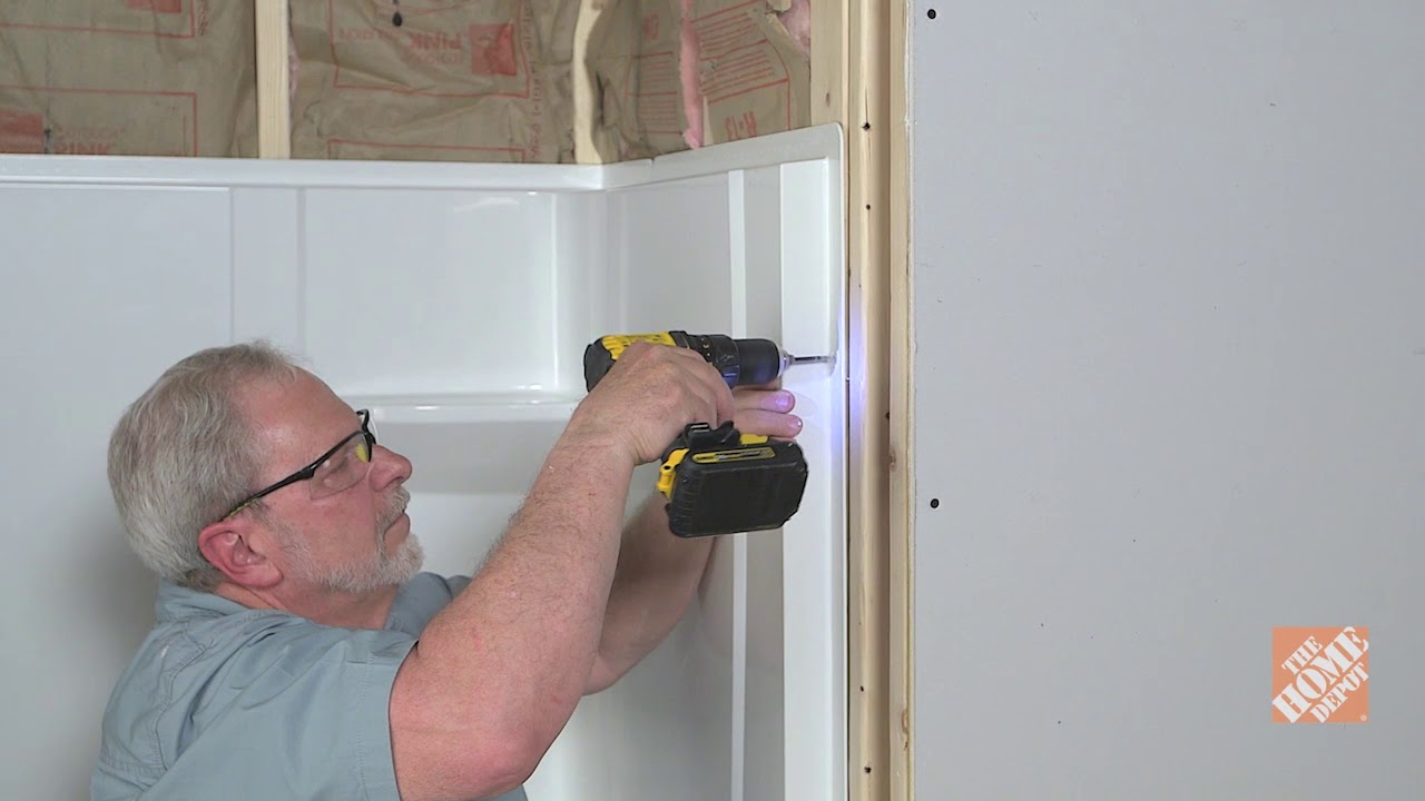 How To Install A Direct To Stud Shower Enclosure The Home Depot
