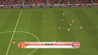 Pes 2014 Gameplay Video Manchester United vs Arsenal 2-0 Premier League 10 11 2013