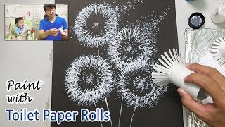 Toilet Paper Roll Painting Techniques for Beginners | Easy Step by Step