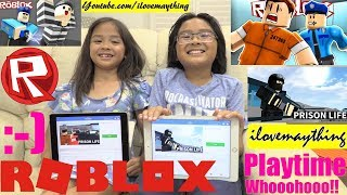 Roblox Games: Playing Roblox Prison Life. Apps Game for Kids. Video Game Playtime Fun!