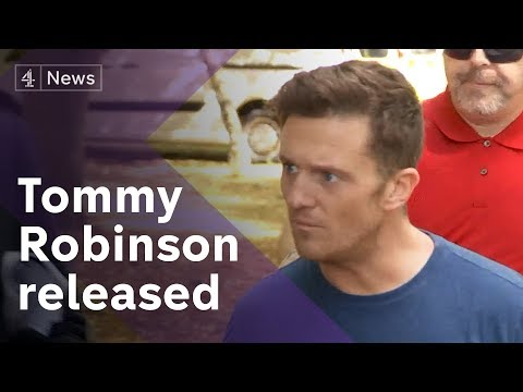 Tommy Robinson released from prison on bail