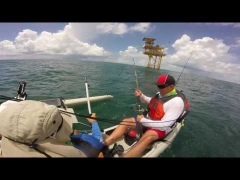 Martin and I july oil rig galveston shark fishing jack fishing King fishing