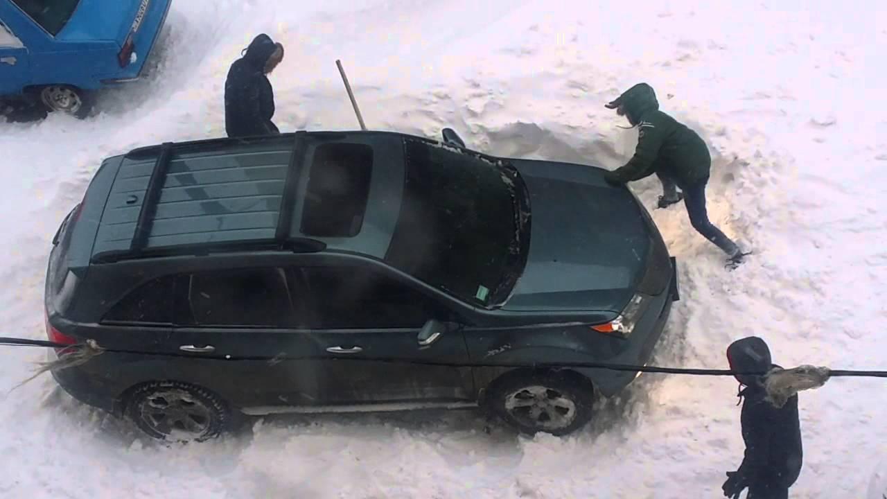 Acura MDX vs SNOW Odessa Ukraine 18.01.2016 - YouTube on
