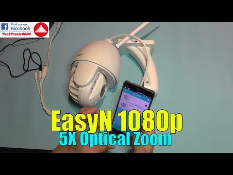 EasyN 1080p Outdoor WiFi 5X Optical Zoom IP Camera - Review and Setup