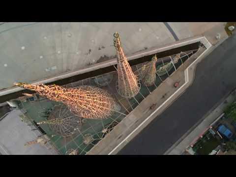 Watts Tower via Drone