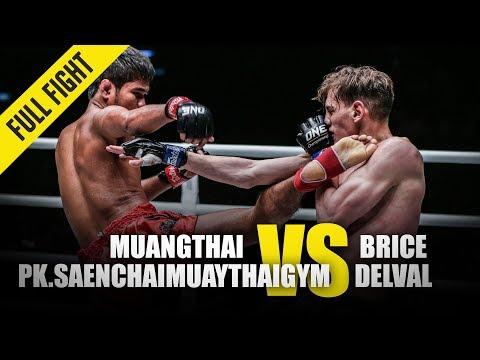 Muangthai Pk.Saenchaimuaythaigym Vs. Brice Delval | ONE Full Fight | January 2020