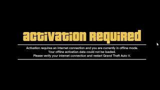 Grand Theft Auto V GTA V Activation Required Fix (
