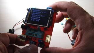Обзор ESR тестра GM328 с частототомером, генератором, вольтметром, энкодером. 2016
