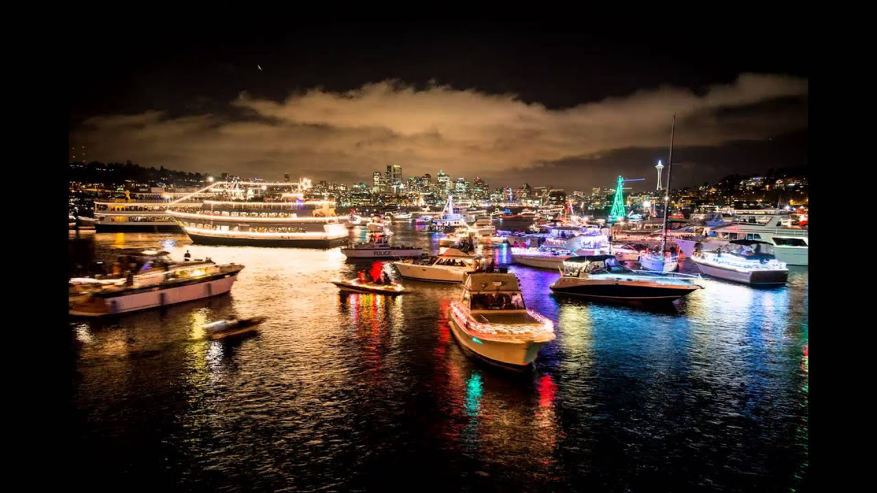 happy holidays from seattle christmas ships in lake union youtube