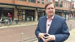 Wethouder David Vermorken van de VVD stelt zich voor aan Gilze en Rijen