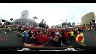 Los Angeles Teacher Rally at Grand Park Day 5 video 03