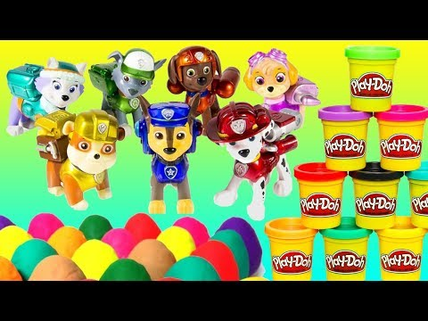 1+ Hour PAW Patrol Play-doh Doc McStuffins Toy Surprise Eggs for Kids Children Toddlers