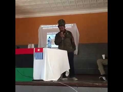 Decolonizing Education in Azania - Thando Sipuye Speaks at World Wide Pan-Afrikan Convention