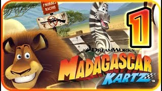 DreamWorks Madagascar Kartz Part 1 Gameplay Walkthrough (PS3, X360, Wii) Alex
