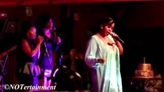 Maleh singing ''Ke Mo Afrika'' at the Celebration of Life 1 Year Anniversary