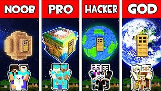 Minecraft - NOOB vs PRO vs HACKER vs GOD : FAMILY PLANET HOUSE in Minecraft Animation