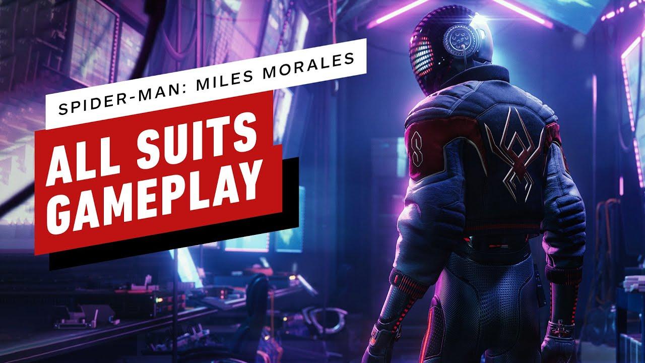 Spider-Man: Miles Morales - All Suits/Skins Montage (4K Gameplay)