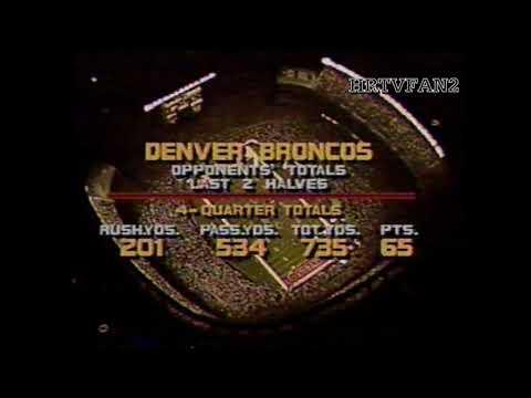 Super Bowl XXII Halftime Analysis