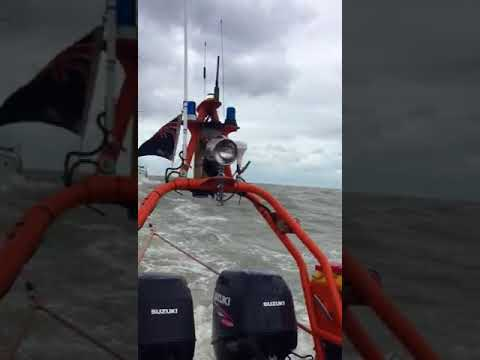Yacht Rescue by Felixstowe Volunteer Coastal Patrol and Rescue Service 10th Sept 2017