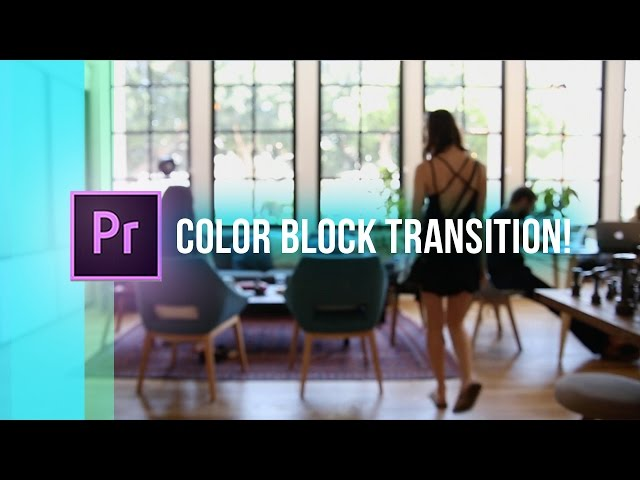 CLEAN Color Blocking Transition Effect! (Adobe Premiere Pro CC 2017 How to / Tutorial)