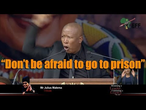 """South Africa: Julius Malema's most inciting speech yet 