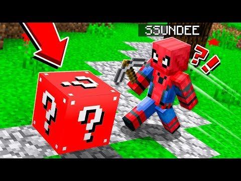 SPIDER MAN LUCKY BLOCK CHALLENGE | *LEGENDARY* SUPERHERO in Minecraft!!!!