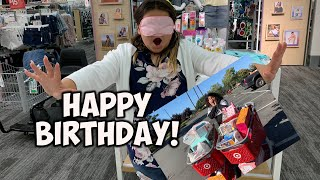 Buying My Sister Everything She Touches Blindfolded for Her BIRTHDAY!