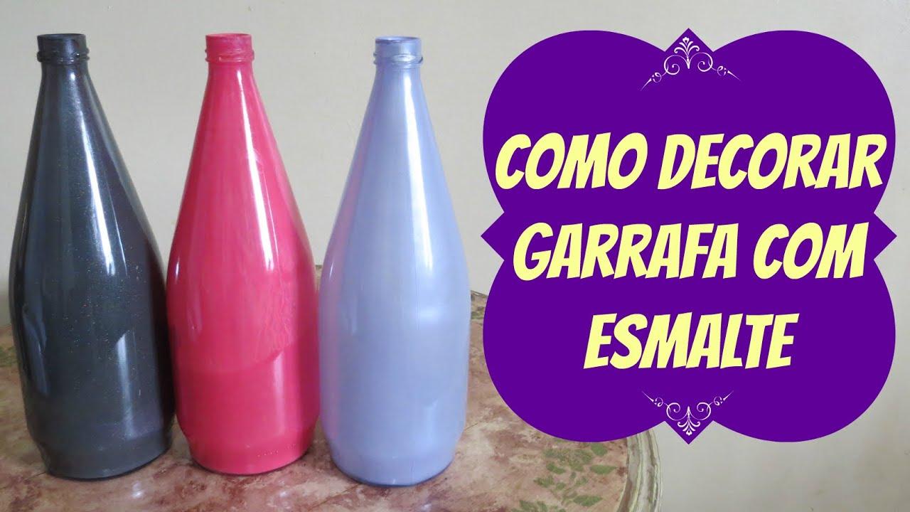 Adesivo De Olho E Boca ~ Como Pintar Garrafa de Vidro com Esmalte YouTube