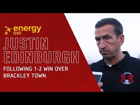 REACTION: Head Coach Justin Edinburgh following the 1-2 win over Brackley Town