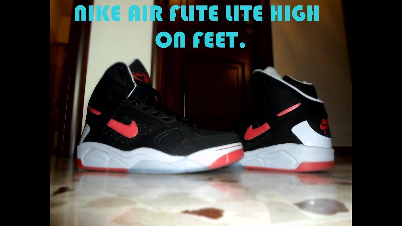 new styles 6a562 a14b2 Nike Air Flight Lite High On Feet