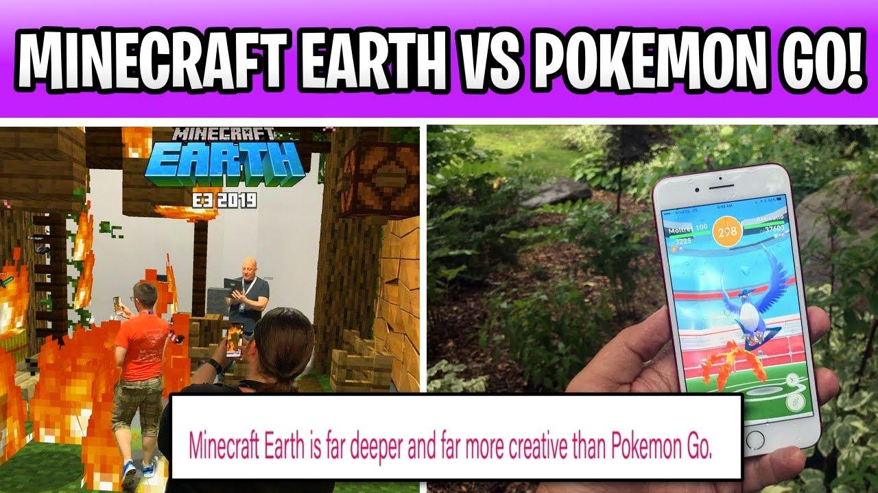 Minecraft Earth Vs Pokemon Go Microsoft Is Taking Shots YouTube