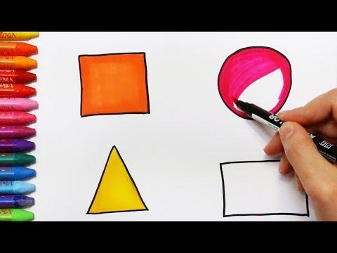 Cara menggambar geometri - Cara Menggambar dan Mewarnai TV Anak