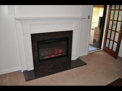 Wood Burning to Electric Fireplace Conversion - Wood Burning To Electric Fireplace Conversion - YouTube