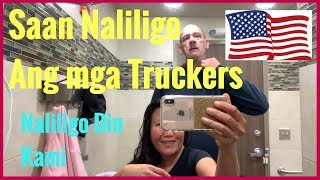 Where the Truck Driver Take Shower? Saan Maligo ang mga Trucker sa US | Filipina Trucker Life in US