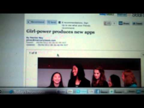 "Kiana Nouri in San Jose Mercury News In The Article "" Girl-Power Produces New Apps"""