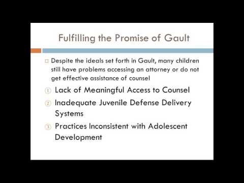 Gault at 50: Examining a Youth's Right to Counsel in Nebraska Webinar