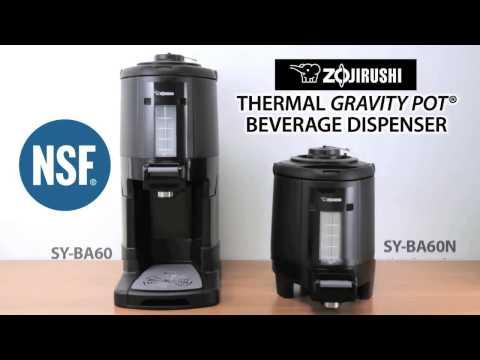 Zojirushi Thermal Gravity Pot® Beverage Dispenser SY-BA60/60N